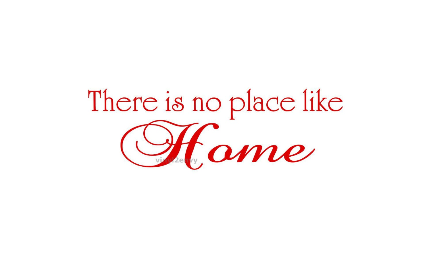 there is no place like home wall decal vinyl wall by vinyl2envy. Black Bedroom Furniture Sets. Home Design Ideas