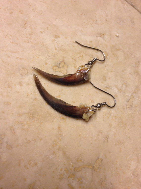 Badger claw earrings native american made