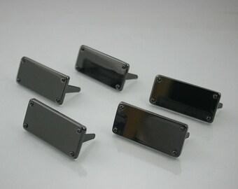 5 pcs.Zinc Black Blank Tag Stud Decorations Findings 14x31 mm. BL 0196 11 Tag SC