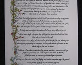 Hippocratic Oath/ Custom Calligraphy/Print of Original/Old World/Gift for MD/Doctor/On White 67 lb Paper