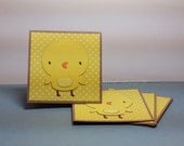 Adorable Yellow Baby Chick - Mini Cards Thank You Cards  ( Set of 4)