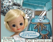 """BETSY's Fun Furniture Pattern 7 1/2""""  to 9 Inch Dolls Vintage e Pattern pdf  FITS  Riley, Ginny & Tiny PATSY patsyette too"""