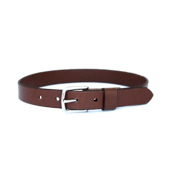 Toddler/Baby Boy's Dress Belt- Brown Leather