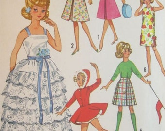 Simplicity 5214 Tammy Doll Clothes Vintage Sewing Pattern 12 Inch Doll