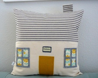 House Pillow  - Decorative Pillow - House Warming Gift - Beach House - Home Decor - Nursery - Nursery Pillow - Pillow Cover -  77 Sunny Day