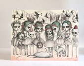 Memento Mori - Limited Edition signed 11x14 pop surrealism Fine Art Print by Mab Graves - Dia de los Muertos Calaveras