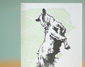 Letterpress Happy Goat Greeting Card