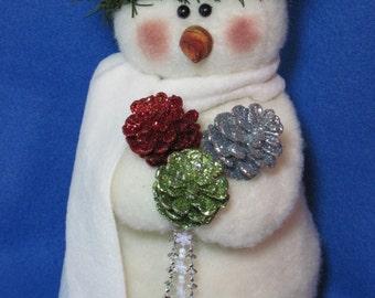 """Snowman pattern:  """"Snow Princess"""" - #608"""
