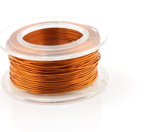 25% OFF!! WIRE - 26g (AWG) Amber - Enameled Copper Wire - 30 yard spool.