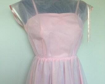DIRTY DANCING Dress - Prom Grad Bridesmaid - Wedding Dress Gown - Soft Pink Vintage