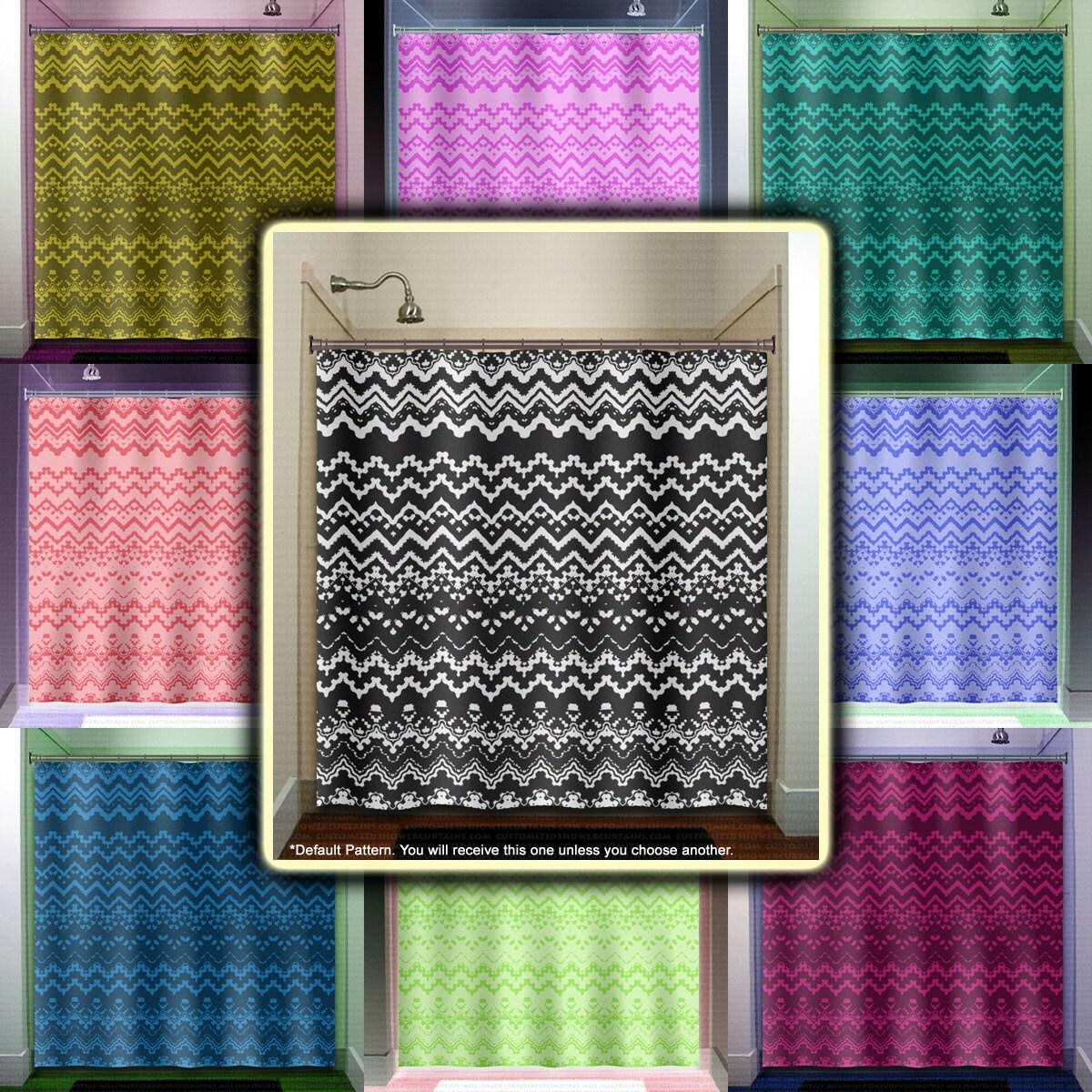 black white lace shower curtain bathroom decor fabric kids. Black Bedroom Furniture Sets. Home Design Ideas