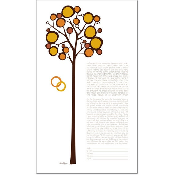Personalized Ketubah: Our Long Romance I