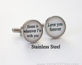 Christmas gift ideas for him, Stocking Stuffer for him, birthday gift for him, birthday gift for husband, Custom quote jewelry for men