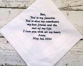 Custom Personalized Wedding Handkerchief for Groom