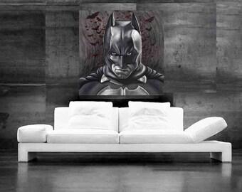 Batman Painting Comic Book Art Canvas Print