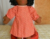 Red with pink flowers Dress for your 25 inch GloryKids
