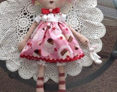 Made to Order Primitive Raggedy Ann Rag Doll Handmade Bunny Made to Order OFG HAFAIR statteam Folk Art