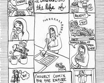 "2014: A Month in the Life Of (one month of hourly ""not fit for society"" comix)"