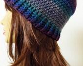 Womens crochet Beanie crochet Hat Cap Slouchy - Gray, Green, Blue, Maroon