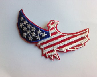 Patriotic Eagle with American Flag New Authentic Collectible Vintage Patch Applique