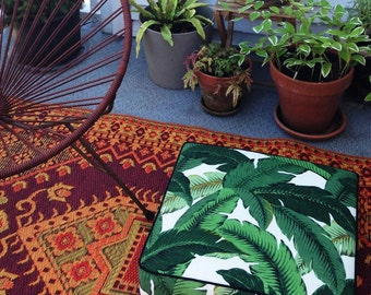 Square Floor Pillow, floor cushion, ottoman, indoor/outdoor pillow case and insert in Tahiti