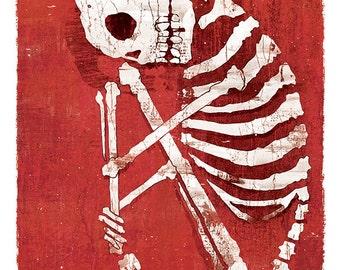 Dia de los Muertos Calavera Grief - 12x18 High Quality Art Print