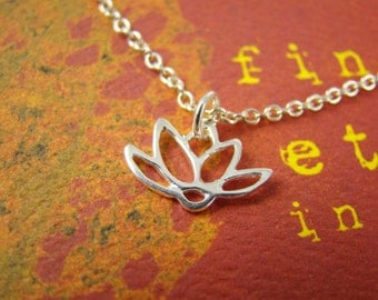 Lotus Charm Sterling Silver 10x15mm Wholesale Charms with Jump Ring