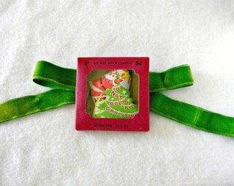 Dennison Santa Labels Vintage Do Not Open 'Till Christmas