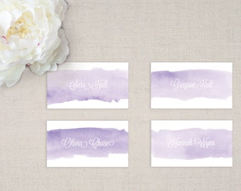 Lavender Wedding Tented Place Cards (Set of 10)