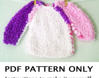 Knitting Patterns Bulky Yarn Sweater : Baby Bulky Knit Sweater Pattern - Long Sweater Jacket