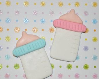 Baby Bottle Fondant Cupcake, Cake or Cookie Toppers- Edible- 1 DOZEN