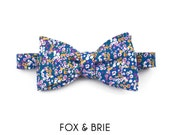 Forget-Me-Not Floral Bow Tie
