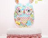 Pretty Girly HOOt! Stuffed Plush Owl - Children Toy stuffed owl - Owl Pillow friend