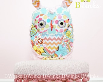 Pretty Girly HOOt! Stuffed Plush Owl - Children Toy stuffed owl - Owl Pillow friend