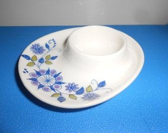 """Egg Cup Porcelain Floral Danishe """"Lotte"""" Decorated Breakfast Cutie - FIGGJO 30 Flint Norway """"Lotte"""" Pattern"""