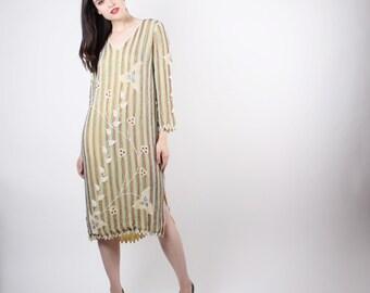 Vintage Beaded Dress  - Vintage Beaded Tabard  -  Vintage Flapper Dress - The  Jaipur Dress - 5080
