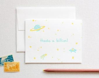 Thanks a Billion Letterpress Card