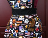 Retro Inspired Biker Babe Full Apron in Easy Rider Fabric by Robert Kaufman