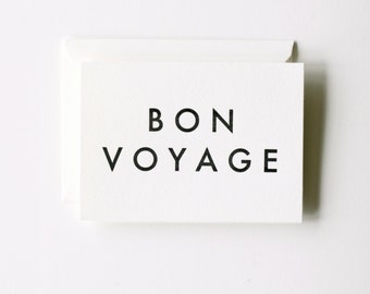 Bon Voyage - Letterpress Printed Greeting Card