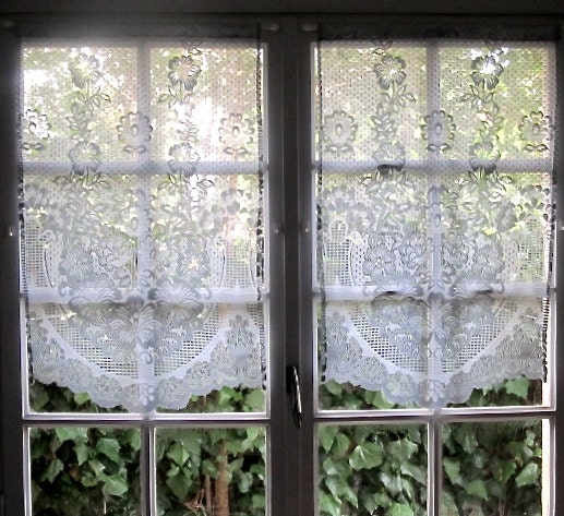 Grey Kitchen Curtains Pair French Lace Curtains Sheer