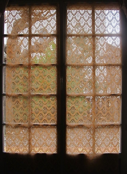 Orange Door Curtains Lace French Door Curtains Floral