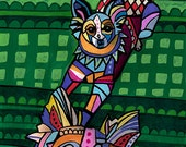 60% Off- Papillon Art  Dog ART  Art Print Poster by Heather Galler (Hg736)