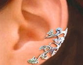 Art Nouveau Stream flower ear cuff Sterling Silver earrings Art Nouveau jewelry Art Nouveau earring Sterling silver ear cuff clip vine C-064