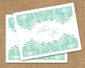 Decorative Swirls Thank You Cards - Set of 10