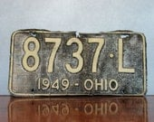 Vintage Licence Plate, vehicle automobile traffic sign