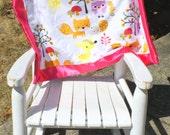 baby girl blanket woodland animal blanket lovey car seat blanket