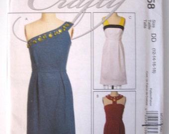 Modern Dress Pattern - UNCUT - McCalls M5658 Size DD 12-14-16-18 - Fitted Sleeveless Dress - Evening Sheath Dress - Embelished Dress Pattern