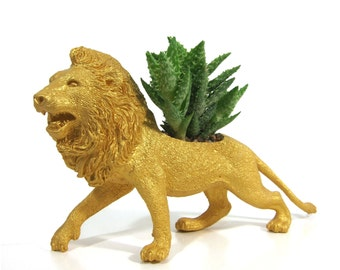 Lloyd the Planted Lion - the Original Toy Planter