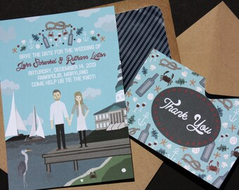 Save the Date : Custom Illustrated, Design Fee