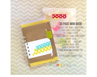 Lists Mixed Media Daily Documenting Notebook Daybook Kit . BOOK THREE . Junk Art Journal Album . Smash Mini Book Recycled